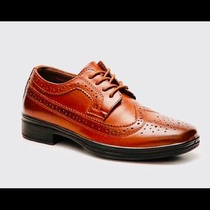 💙 Youth Boys Deer Stags Wingtip Dress Shoes 2